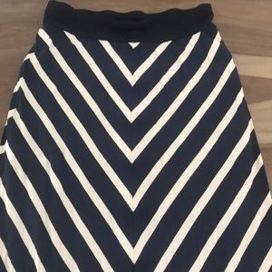 Navy and white Maxi skirt